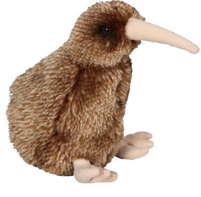 Brown Kiwi with Sound Soft Toy