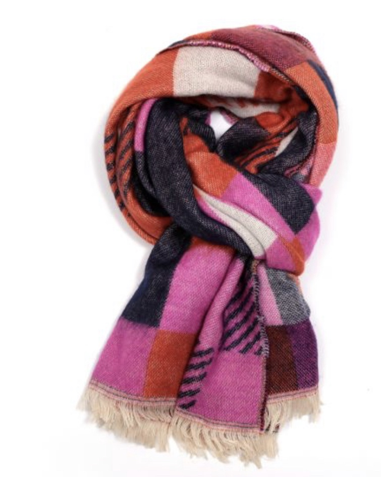Multi Colour Tartan Winter Scarf