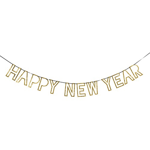 New Year Glitter Garland