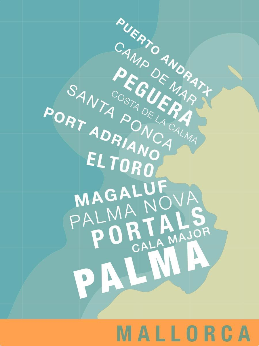 Mallorca Cities Illustration