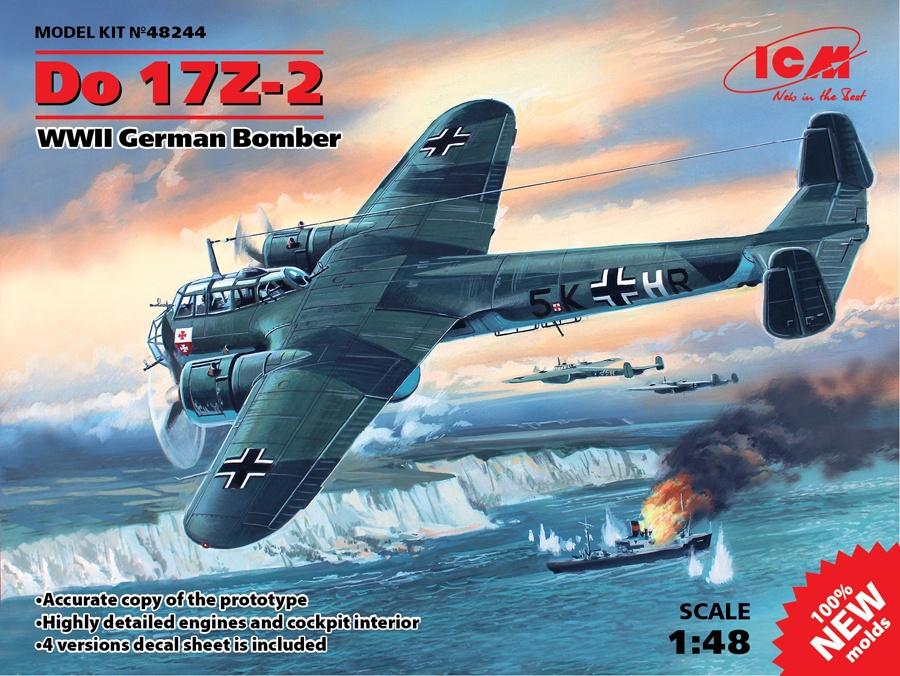 ICM #48244 1/48 Do 17Z-2 German Bomber
