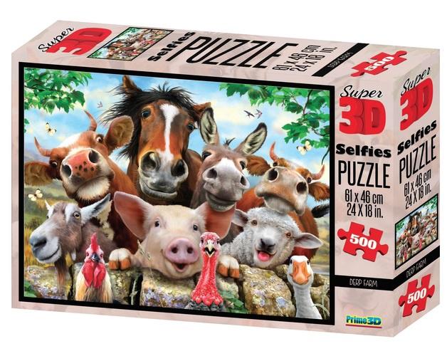 3D PUZZLE DERP FARM 500PCS