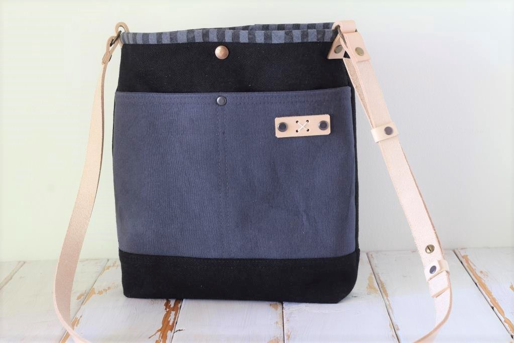 Black and Grey Cross Body Bag