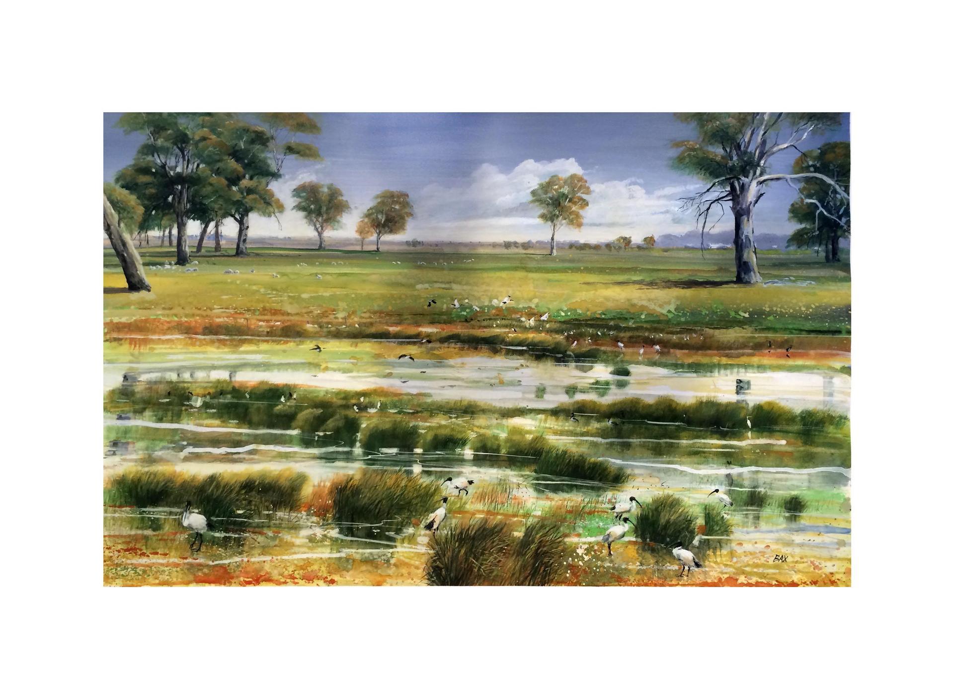 Krongart Landscape - Gouache on Paper