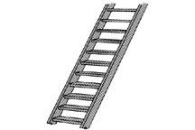 Plastruct #90672 HO Styrene Ladder 2 pce
