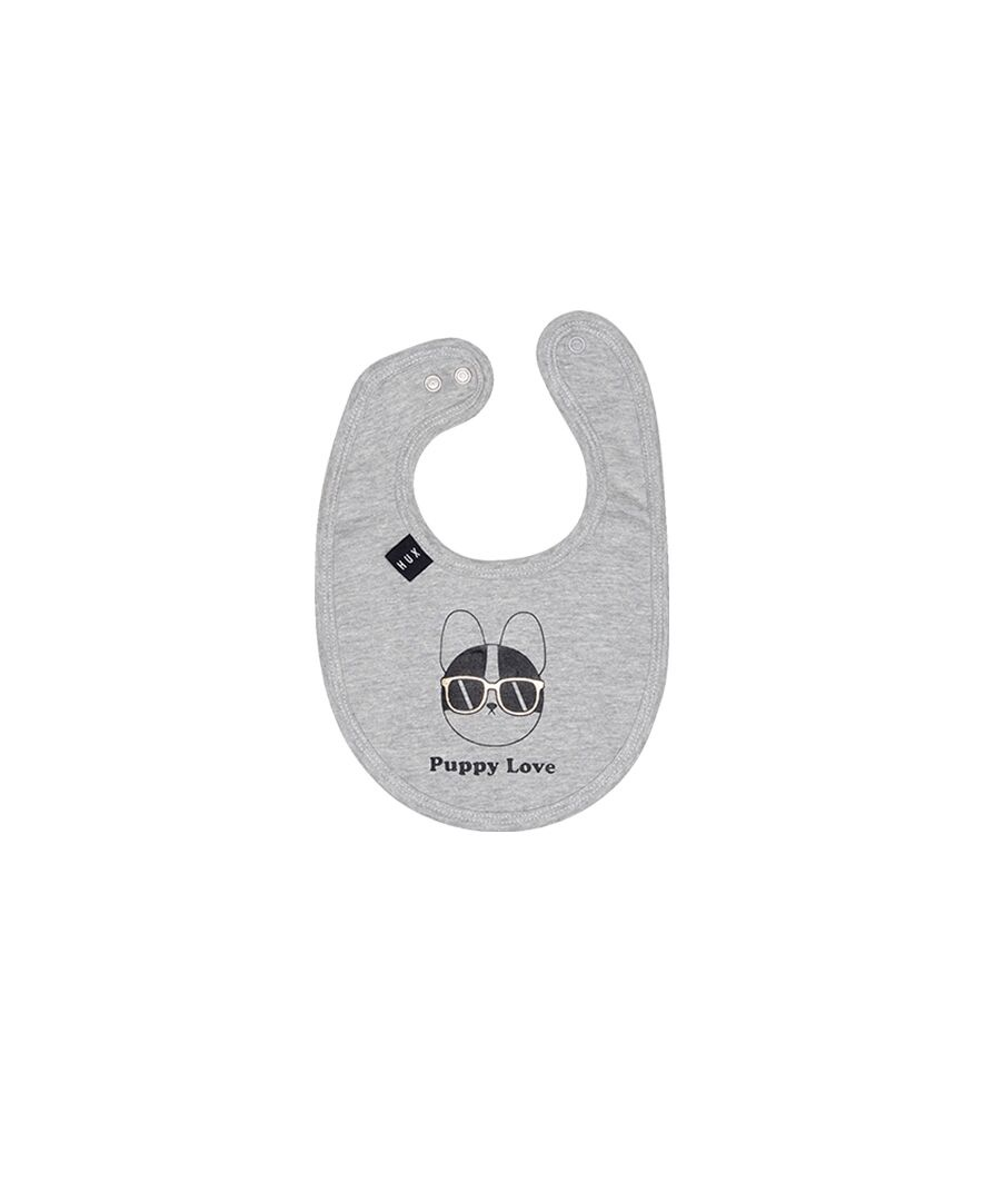 Huxbaby PUPPY LOVE BIB Grey
