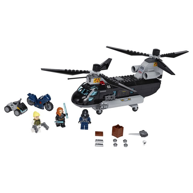 BLACK WIDOW'S HELICOTPTER CHASE
