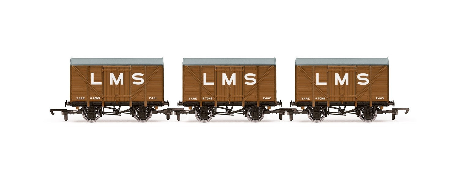 Hornby #R6836 LMS Box Van (3Pack)
