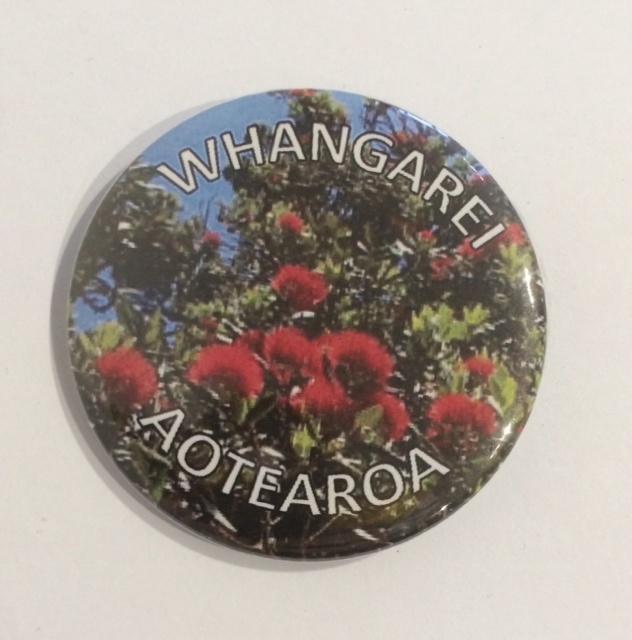 Badge Buttons Whangarei Aotearoa Pohutukawa