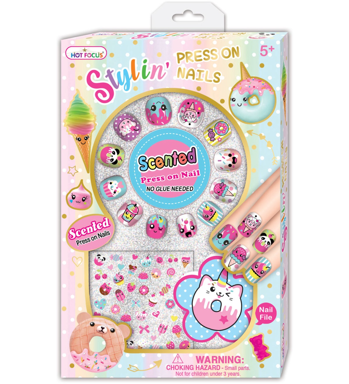 SCENTED STYLIN PRESS ON NAILS, SUGAR RUSH