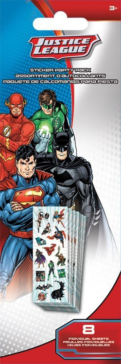 JUSTICE LEAGUE STICKER PARTY PACK