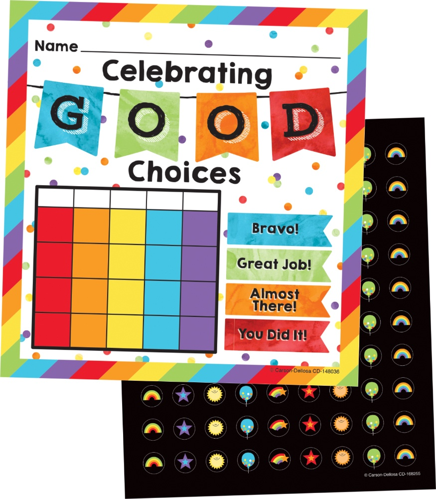 CD 148036 CELEBRATE GOOD CHOICES MINI INCENTIVE CHART PK