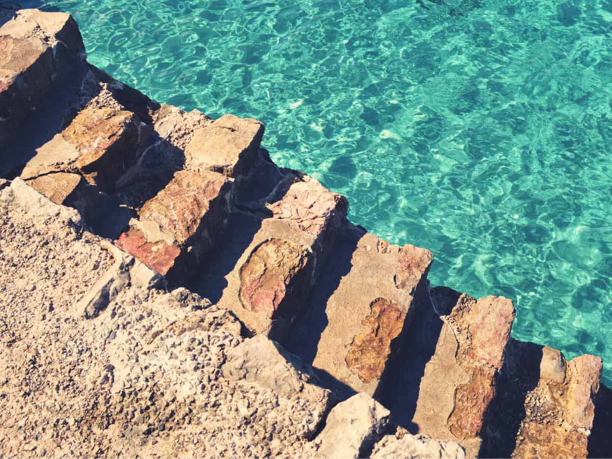 Cala Sant Vicent Stone Stairs