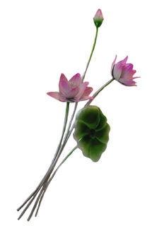 pink flower x2 wallart
