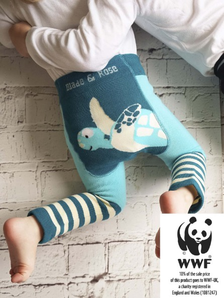 Blade & Rose Organic WWF Marine Turtle Leggings