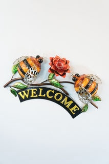 Bees welcome sign wallart