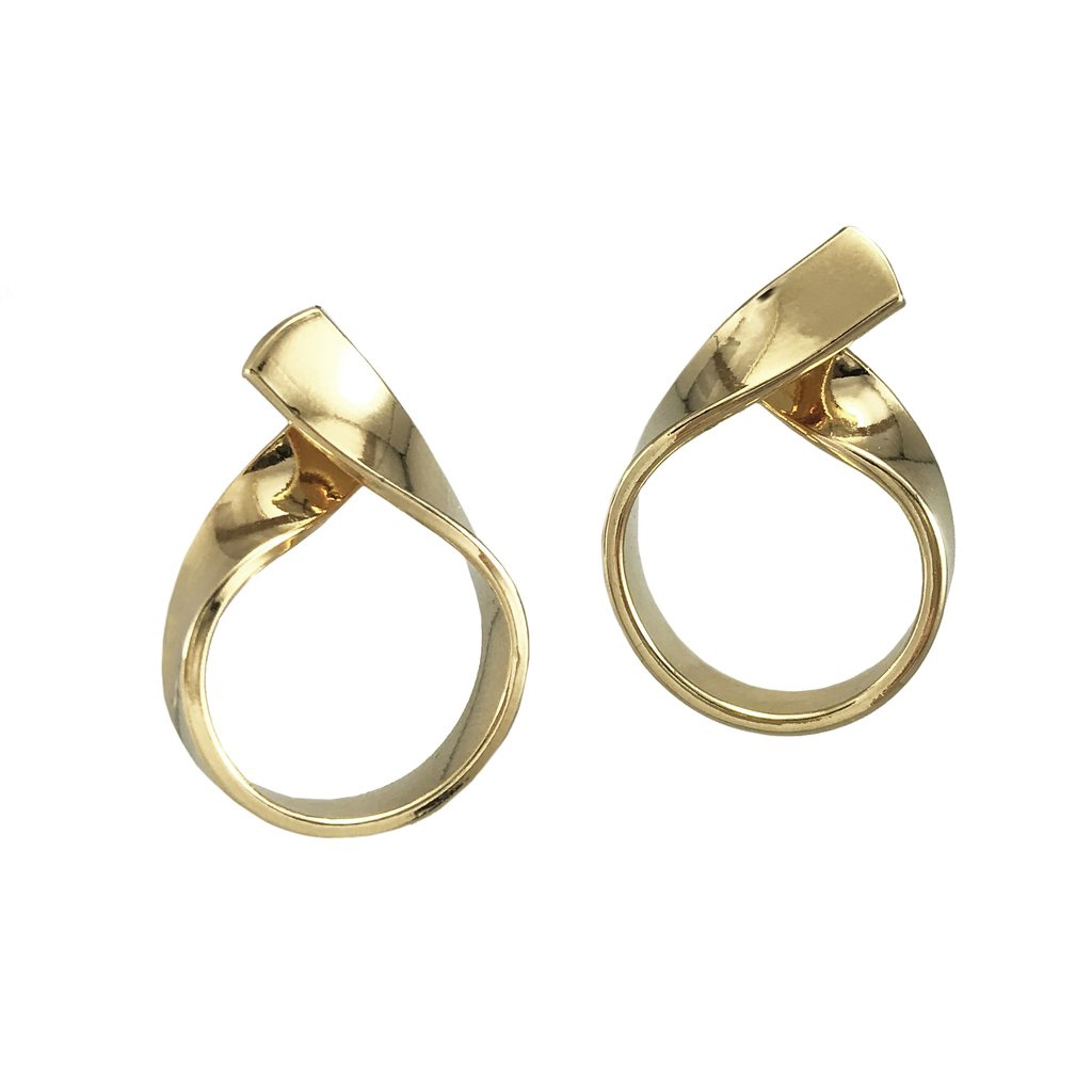 BIKO - RIBBON LOOP STUDS IN GOLD
