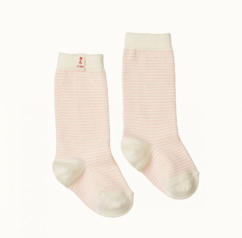 ORGANIC COTTON SOCKS - PINK STRIPE