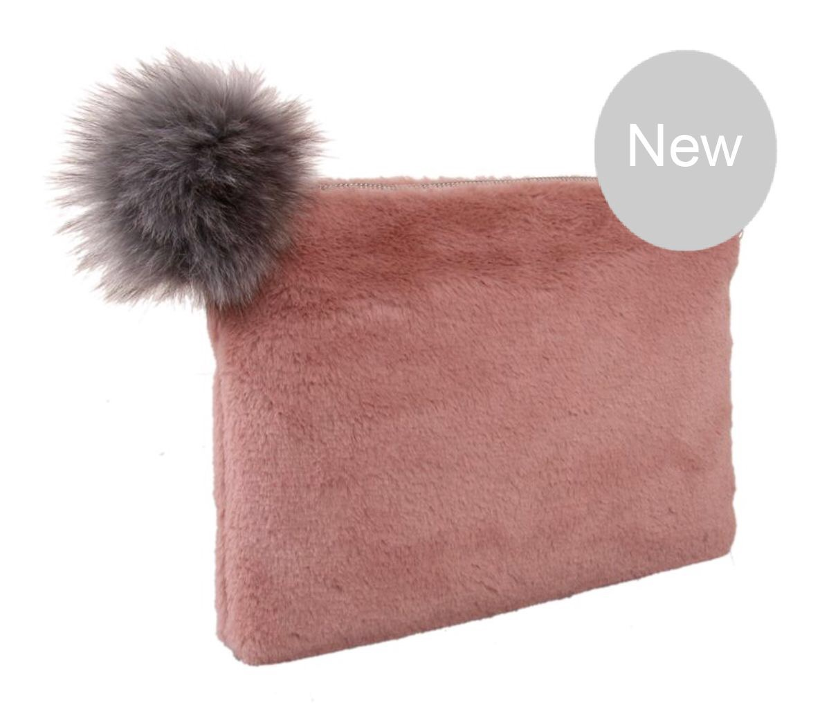 Bonny Fur Clutch with pom pom