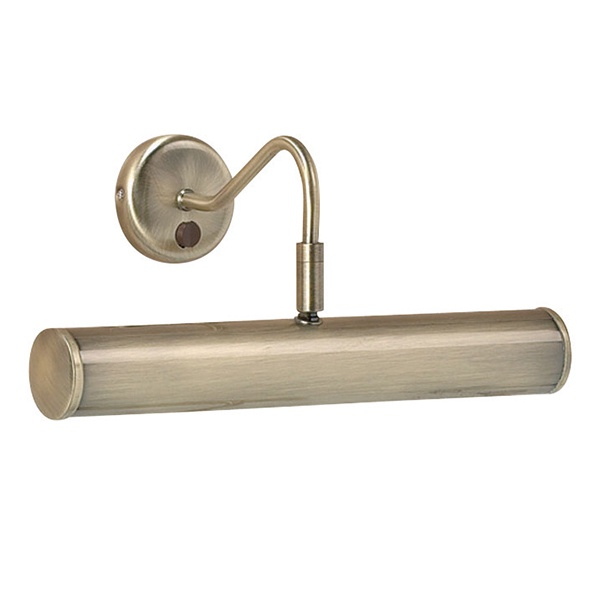Turner 2lt 355mm wall 6.2W SW warm white - antique brass