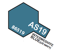 Tamiya Colour Spray Paint #86519 AS-19 Intermediate Blue (US Navy)