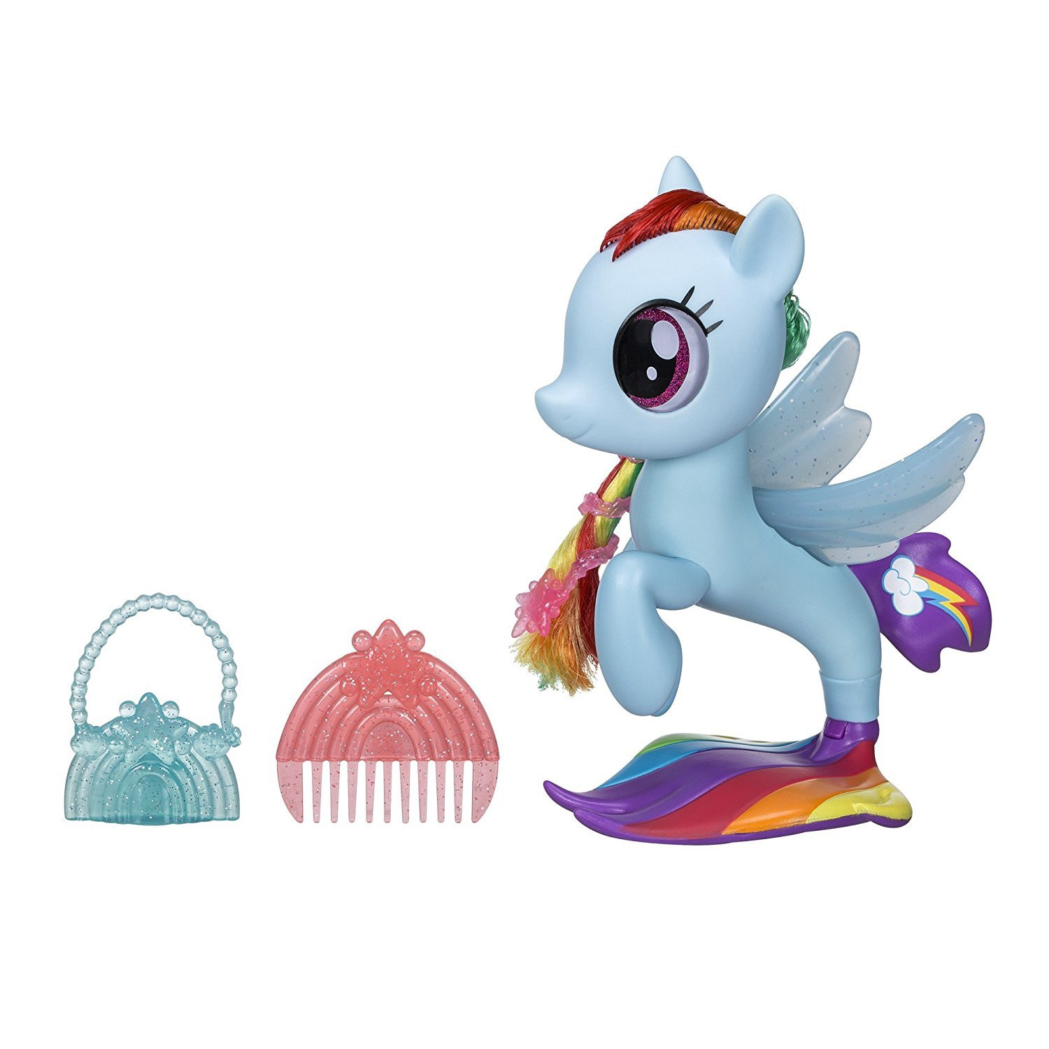 MY LITTLE PONY THE MOVIE GLITTER & STYLE SEAPONY RAINBOW DASH