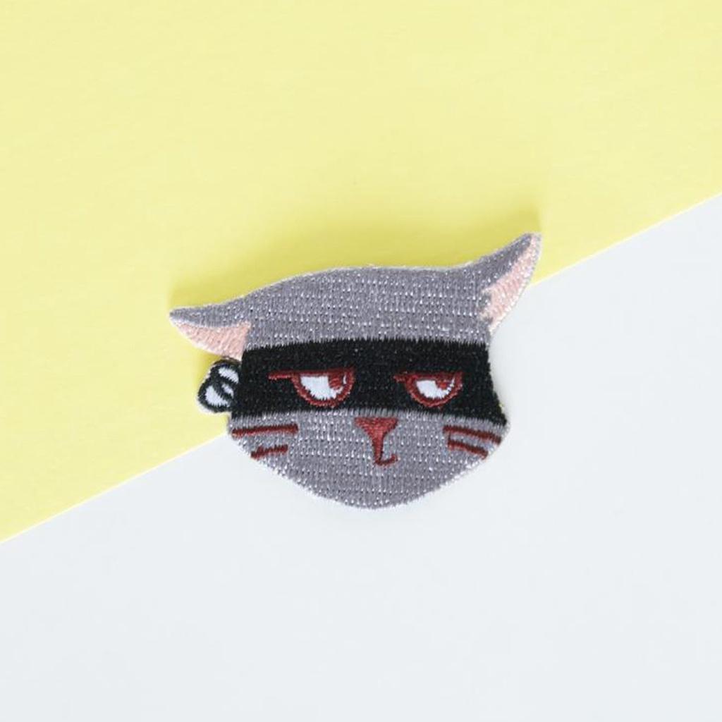 Grey Cat Iron-On Patch