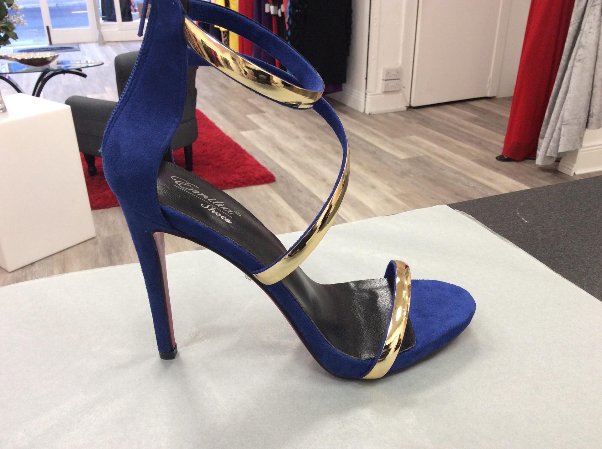 Blue and Gold EMILIA SHOES