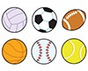 T 46074 SPORTS BALLS SHAPES STICKERS