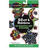 SCRATCH ART SILVER & RAINBOW S