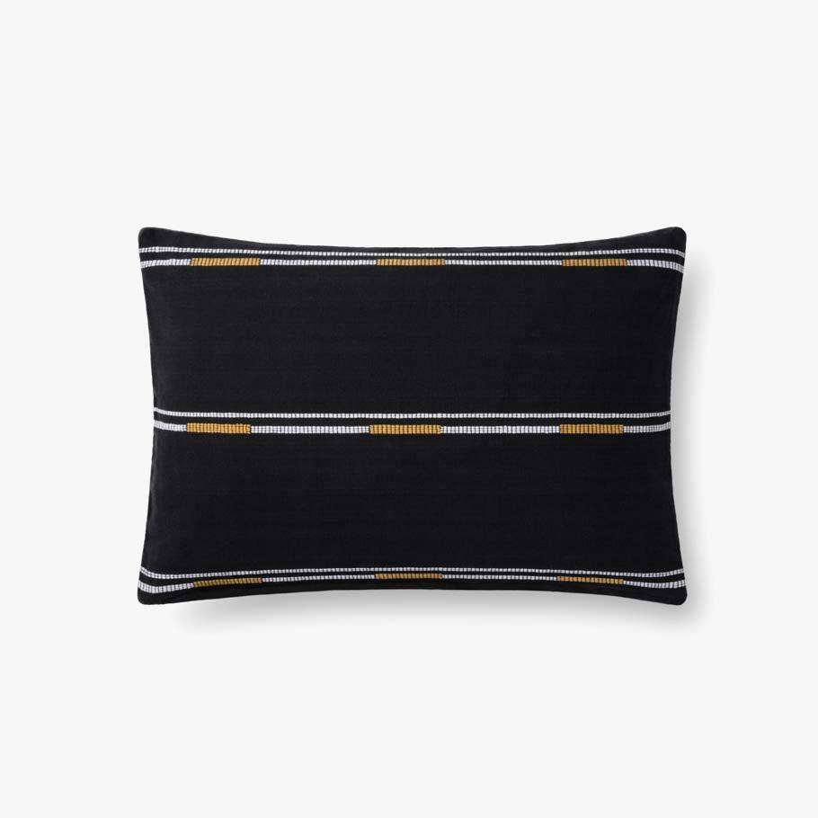 Black & Gold Embroidered Pillow