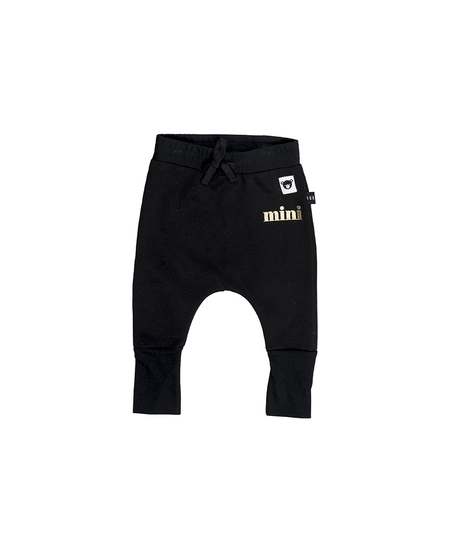 Huxbaby BLACK HIGH CUFF PANT