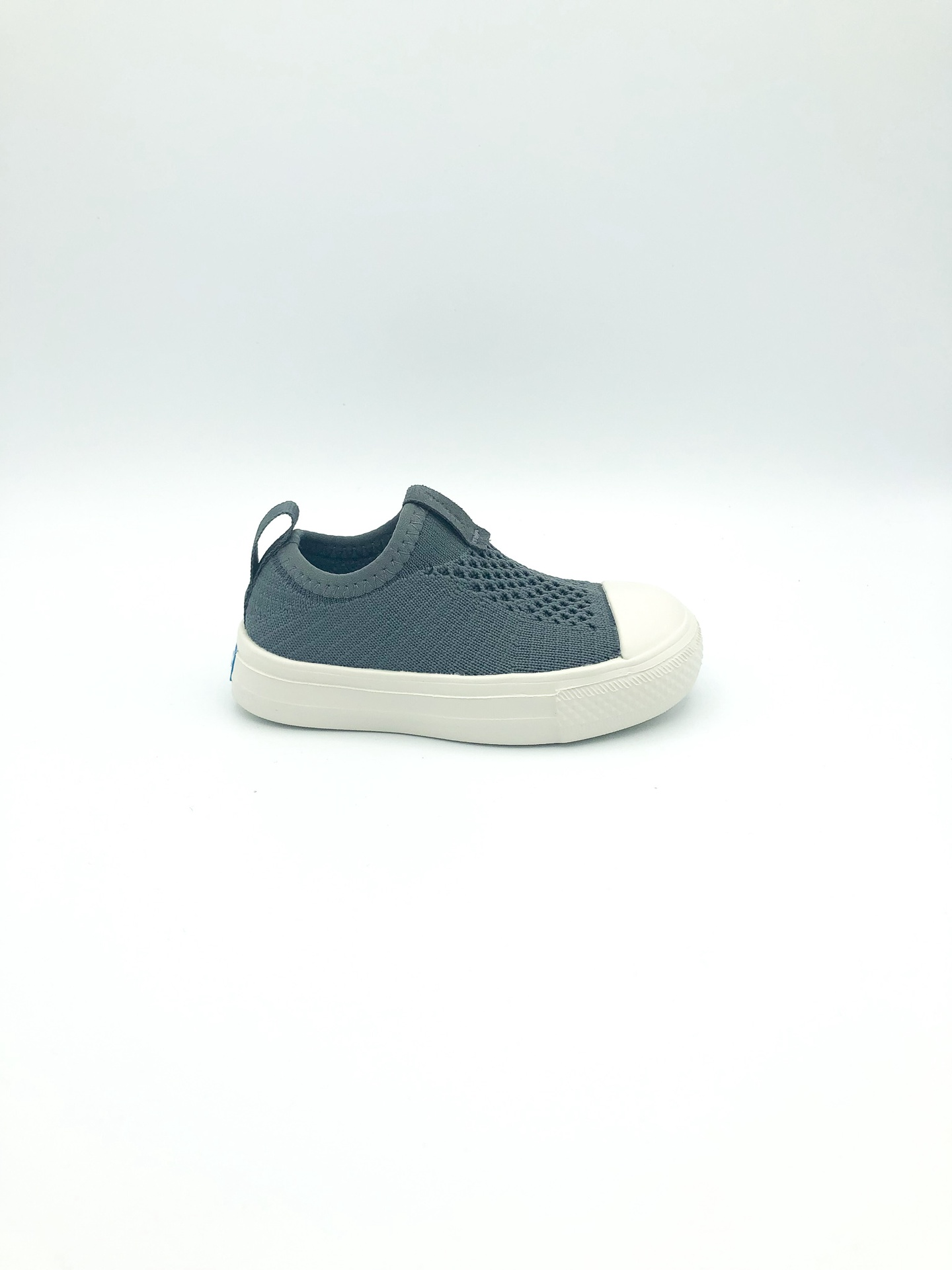PEOPLE FOOTWEAR - THE PHILLIPS CHILD KNIT IN MOONROCK GREY/PICKET WHITE