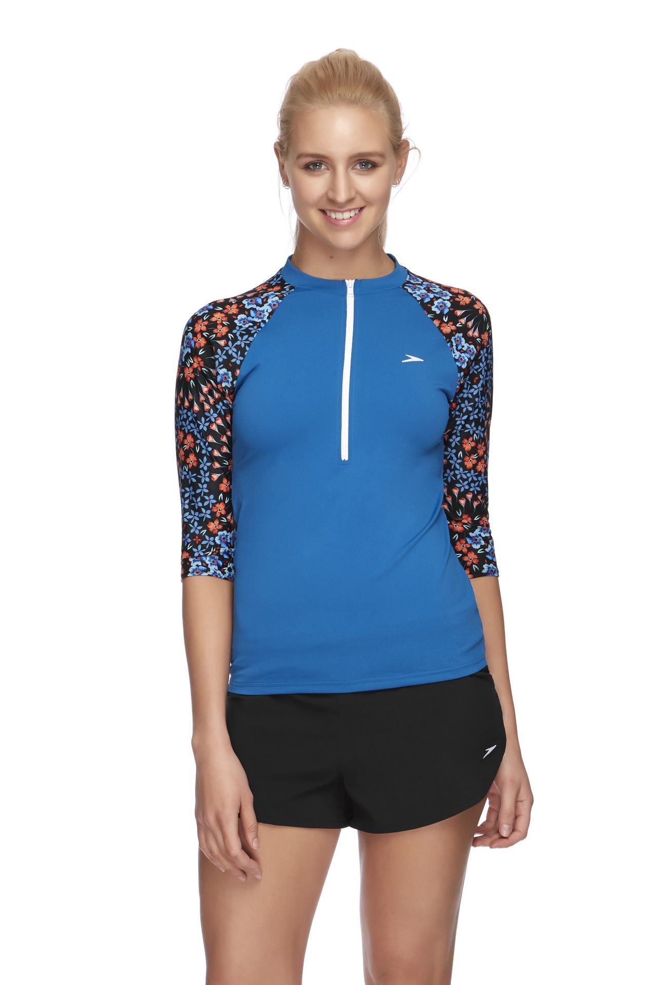 Womens Nordic Endurance+ Half Zip 3/4 Sleeve Rashie