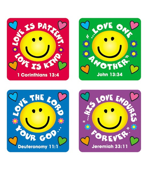 CD 0655 LOVE VERSES SCRIPTURE STICKERS