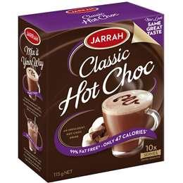 Jarrah Classic Hot Chocolate Sachets 115g 10pk