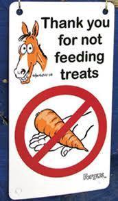 Fergus Stall Sign Do Not Feed