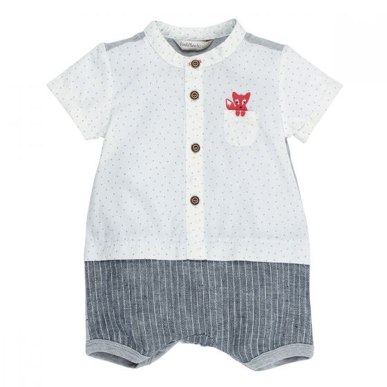 Fox and Finch Little Mr Fox Pocket Romper