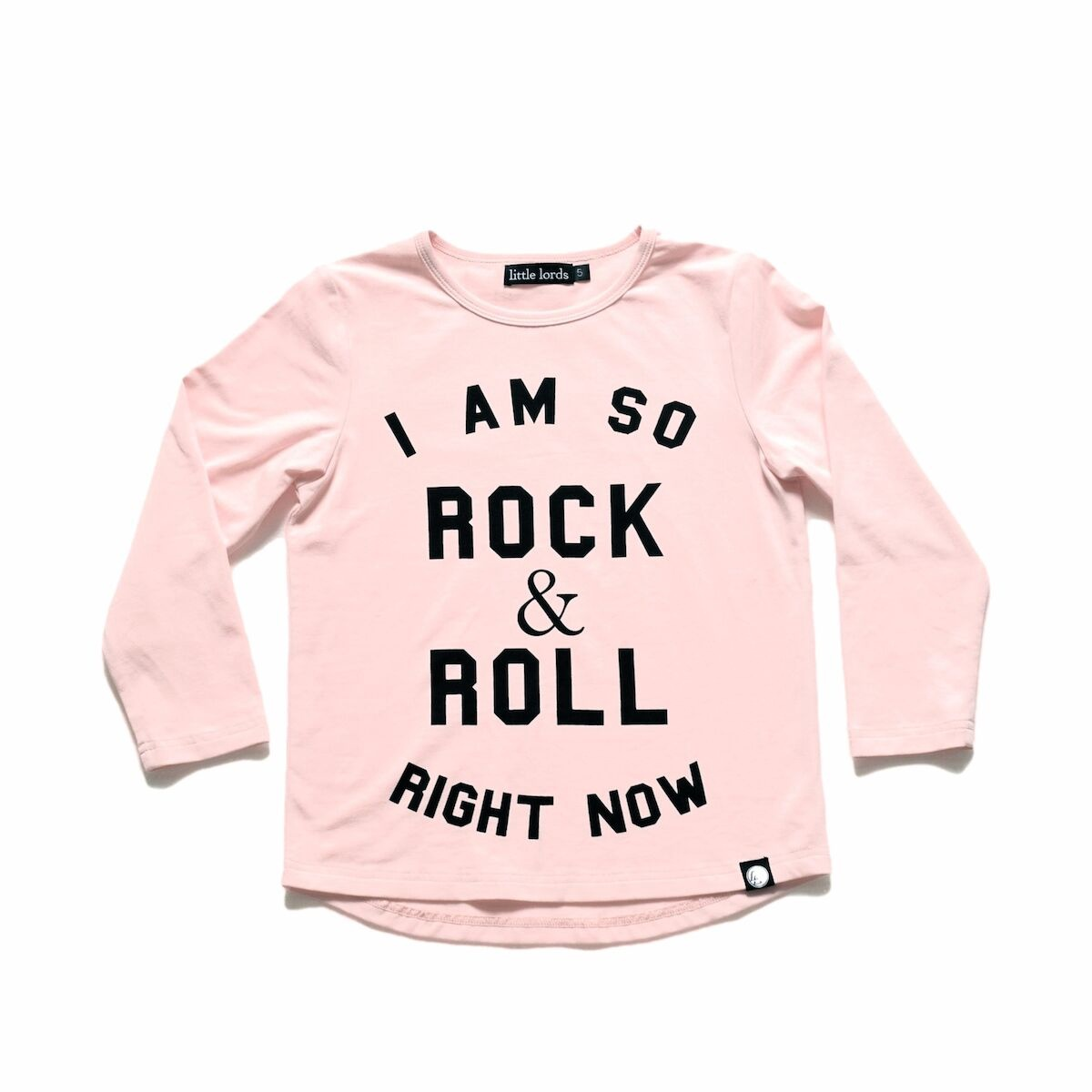 Little Lords Rock & Roll LS Tee Pale Pink