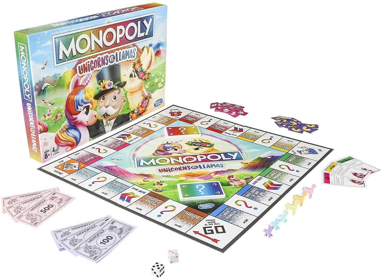 MONOPOLY UNICORN VS. LIAMAS BOARD GAME