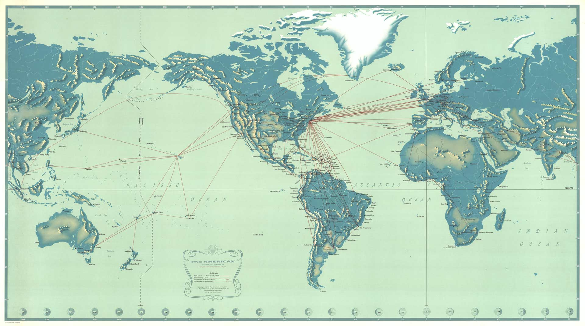 PanAm World Map | Print Only