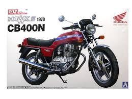 Aoshima #5394  1/12 1978 Honda CB400N  Hawk III