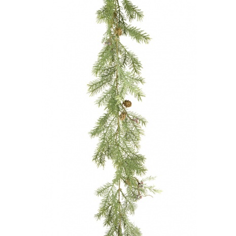 Pine Cypress Garland with Cones