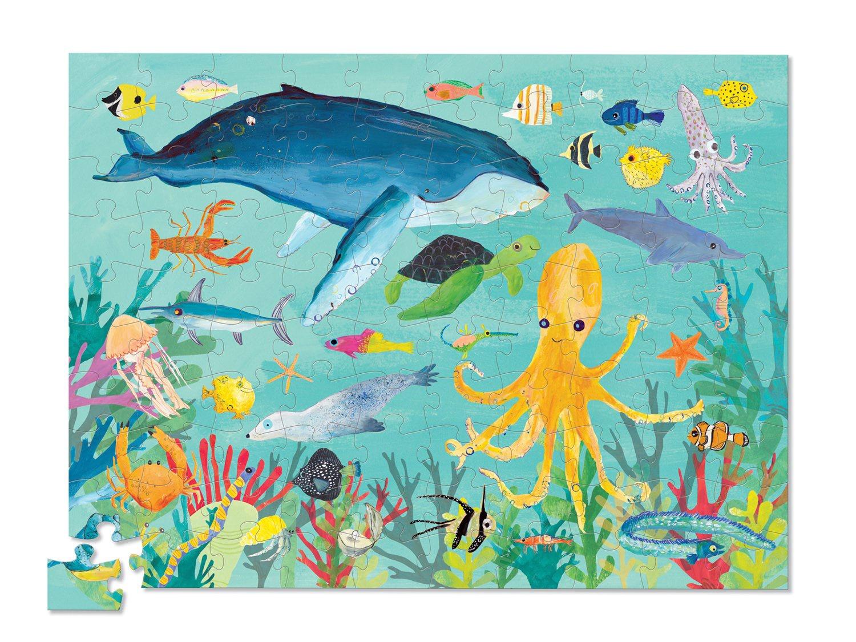 OCEAN ANIMALS PUZZLE 100 PCS