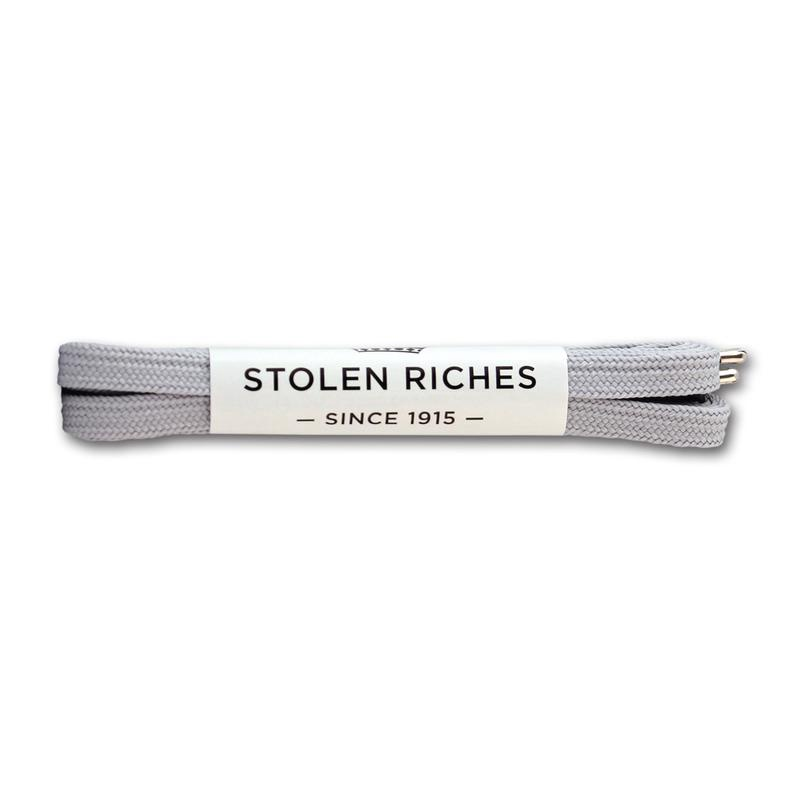 STOLEN RICHES- SNEAKER LACES IN ISOLAR SLIVER