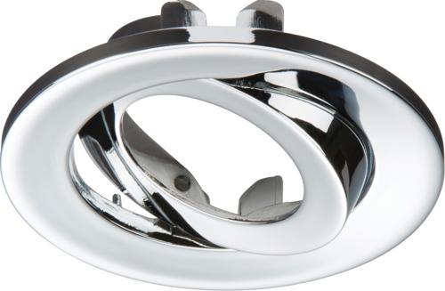 Adjustable Chrome Tilt Bezel for VFR8 LED IP20 Downlights