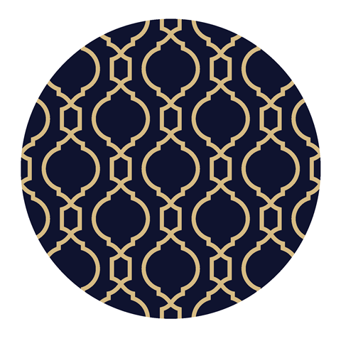 Paper Placemats – Geometric (Rnd) 340mm