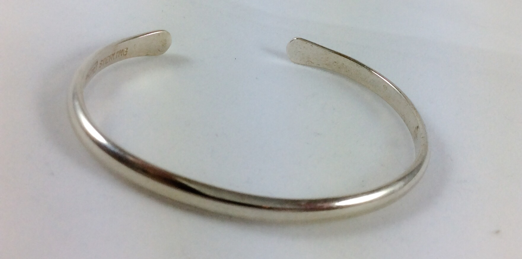 Sterling silver narrow cuff