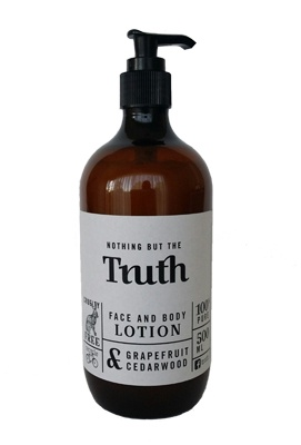 500ml Grapefruit and Cedarwood Face and Body Lotion - Truth Cosmetics