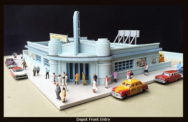 Lunde Studios #396-12 N Scale  Snailways Bus Depot Kitset